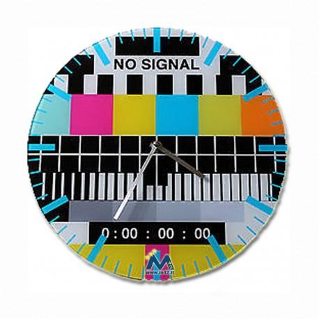 Orologio da parete Monoscopio Segnale TV No signal
