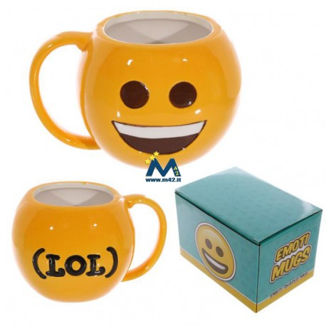 Tazza mug in ceramica Emoticon Sorriso - LOL