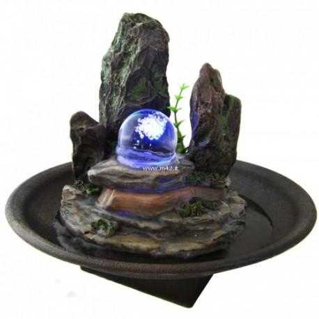 Fontana da interno feng shui relax roccia illuminata for Fontana zen