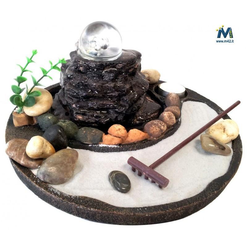 Fontana da interno feng shui giardino zen con sfera in for Giardino zen interno