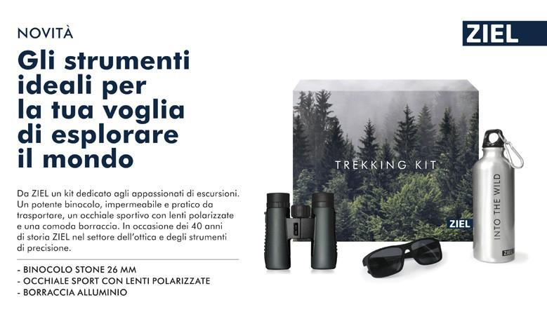 Trekking kit by Ziel: binocolo, occhiali polarizzati, borraccia