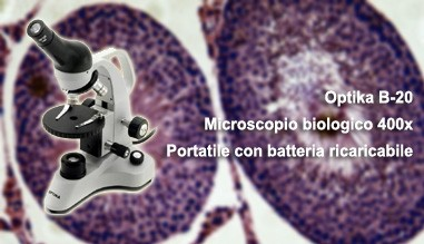 Microscopio Optika B-20 biologico 400x