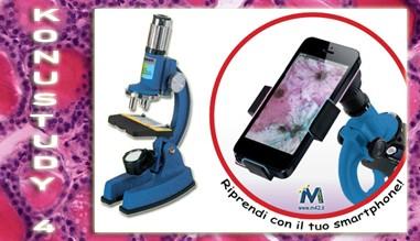 Microscopio completo di adattatore fotografico per smartphone