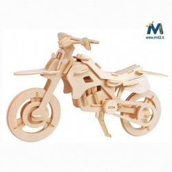 Puzzle Moto in legno