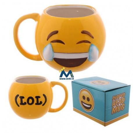 Tazza mug in ceramica Emoticon Risata - LOL