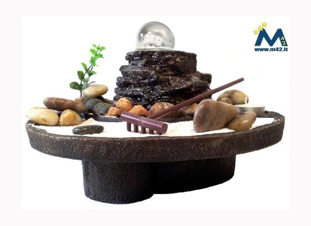 Ufficio Zen Zen : Fontana da interno feng shui giardino zen con sfera in vetro ed acqua