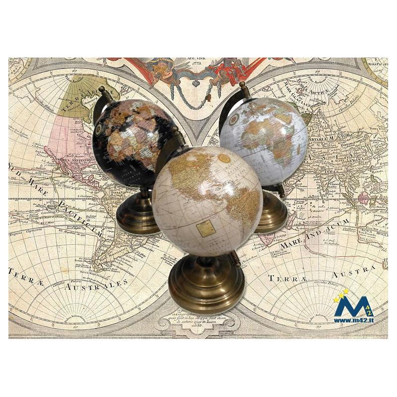 Mappamondo Vintage Diametro 12 Centimetri