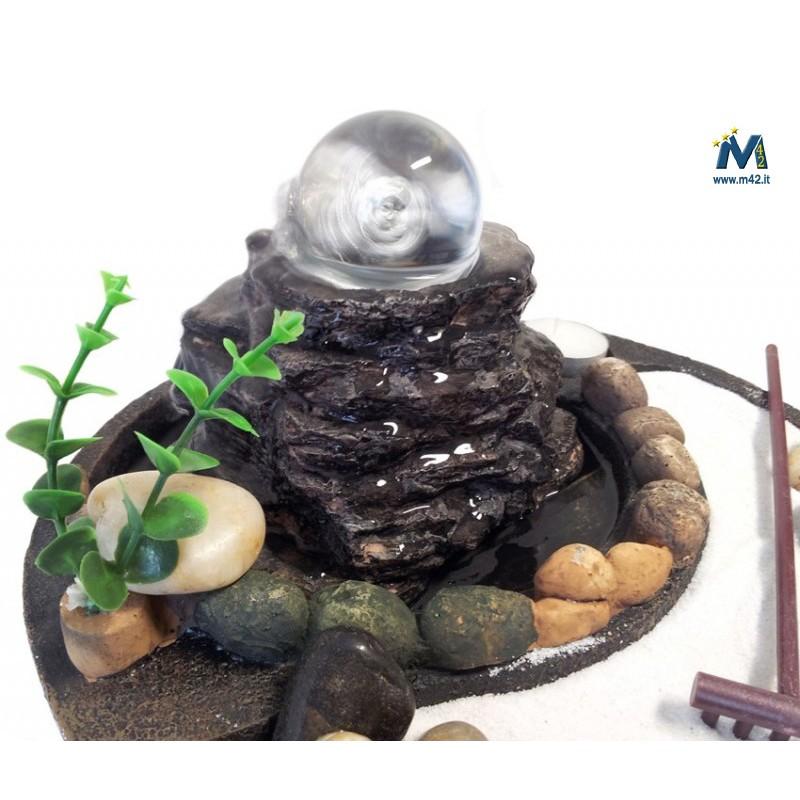 Fontana da interno feng shui giardino zen con sfera in - Giardino feng shui ...