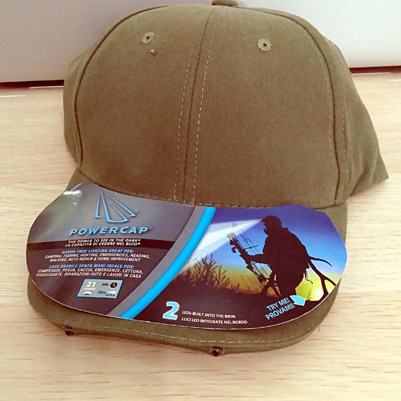 KONUS cappello POWERCAP con 2 luci LED per caccia pesca campeggio escursioni