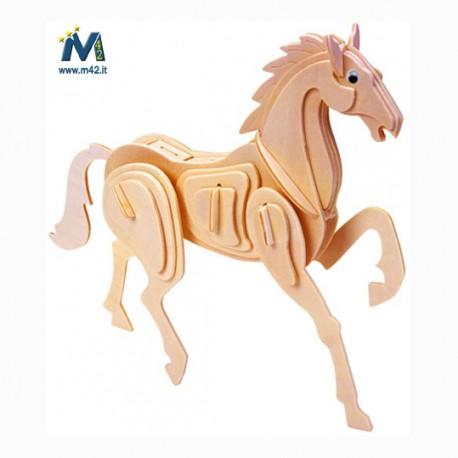 Puzzle Cavallo in legno