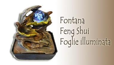 Fontana Feng Shui Foglie illuminata